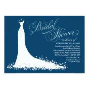 Bridal Shower Invitation | Elegant Wedding Gown Cards