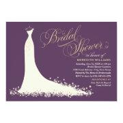 Bridal Shower Invitation | Elegant Wedding Gown Custom Invitation
