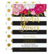 Bridal Shower  - Floral Black White