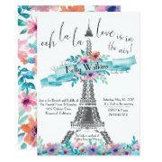 Bridal Shower Invitation- Paris, Floral