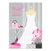 Bridal Shower Invitation | Pink and Silver
