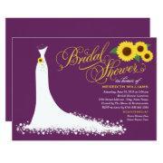Bridal Shower  | Sunflower Wedding Gown