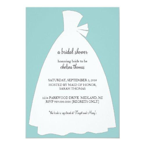 Bridal Shower Invitation {teal Blue}