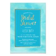 Bridal Shower  - Watercolor, Beach, Gold