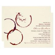 Bridal Shower  | Wine Stain Rings