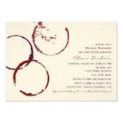 Bridal Shower    Wine Stain Rings