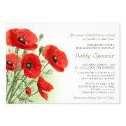 Bridal Shower Invitation With Poppies