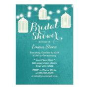 Bridal Shower Lanterns & Strings Modern Teal