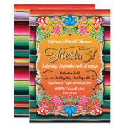 Bridal Shower Mexican Fiesta Party Gold Glitter