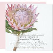 Bridal Shower Modern Elegant King Protea Flower Invitation