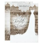Bridal Shower On Barn Wood With Lace & White Dove