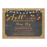 Bridal Shower Party Fall In Love Leaves Invite