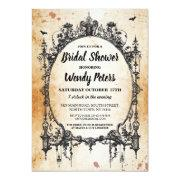 Bridal Shower Party Gothic Frame Halloween Invite
