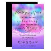 Bridal Shower Pastels Pink Waves Ocean Mermaid Invitation
