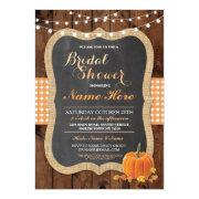 Bridal Shower Pumpkin Fall Wood Burlap