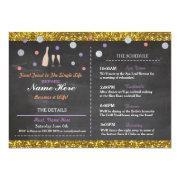 Bridal Shower Purple Chalk Itinerary Bachelorette