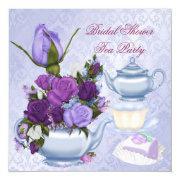 Bridal Shower Purple Floral Tea Party