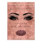Bridal Shower Spark 16th Rose Spark Glitter Eggpla Invitation