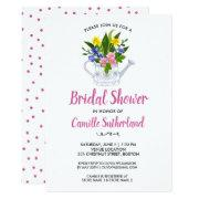 Bridal Shower Spring Summer Colorful Flower Garden Invitation