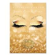 Bridal Shower Sweet 16th Gold Sparkly Glitter Invitation