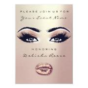 Bridal Shower Sweet 16th Rose Eyes Glitter Skinny Invitations