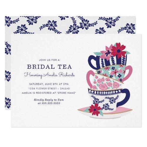 Bridal Shower Tea Cups Invitations