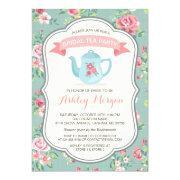 Bridal Shower Tea Party Elegant Vintage Floral