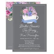 Bridal Shower Tea Party  Blue Hydrangea