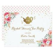 Tea party bridal shower invitations funbridalshowerinvitations bridal shower tea party invitations floral teapot filmwisefo