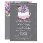 Bridal Shower Tea Party  Pink Hydrangea