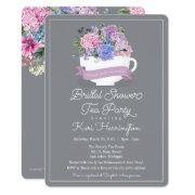 Bridal Shower Tea Party  With Hydrangeas