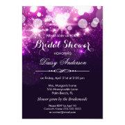 Bridal Shower - Trendy Purple Glitter Sparkles