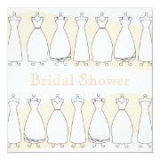 Bridal Shower Wedding Dress Invitation