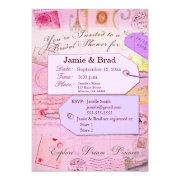 Bridal Travel Shower Theme In Pink And Purple