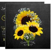 Bride & Co Autumn Bride Sunflower Party Invitations