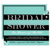 Bride & Co Black & Tiffany Blue Bridal Shower