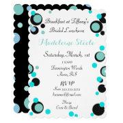 Bride & Co Blue & Black Polka Dot Party