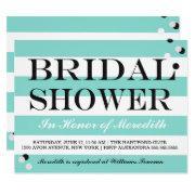 Bride Co Little Black Dress Teal Blue Shower Party Invitation