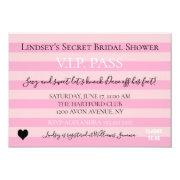 Bride & Co Pink Bridal Lingerie Shower Party Invitation