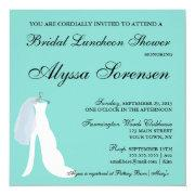 Bride & Co Teal Blue Here Comes The Bride Party Invitation