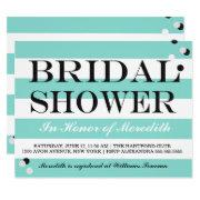 Bride & Co Tiffany Teal Blue Bridal Shower Party Invitations