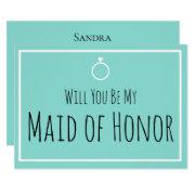 Bride & Co Will You Be My Maid Honor Wedding