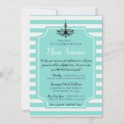 Bride Teal Blue Tea Bridal Brunch Shower Party