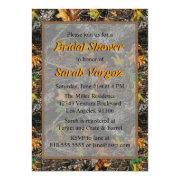 brown camo bridal shower invitations