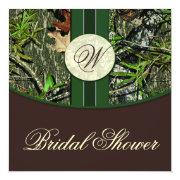 Brown Green Camo Wedding Bridal Shower