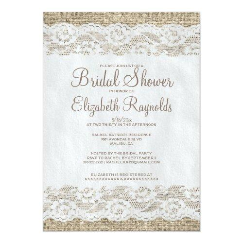 Brown Rustic Lace Bridal Shower