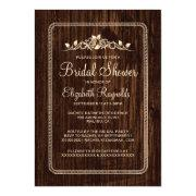 Brown Vintage Barn Wood Bridal Shower Invitations Custom Invitation