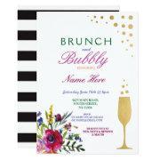 Brunch & Bubbly Bridal Shower Floral Invite