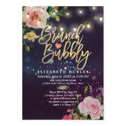 Brunch & Bubbly Bridal Shower Floral String Lights
