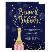 Brunch & Bubbly Bridal Shower  Navy Gold